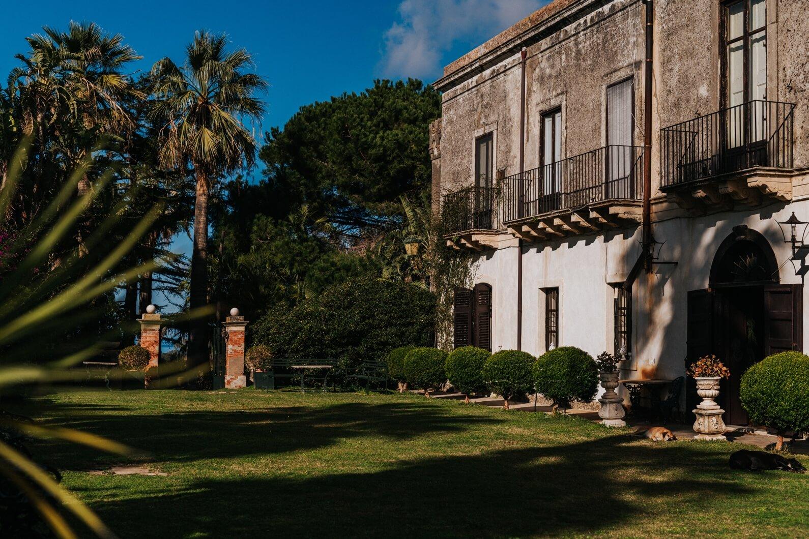 villa storica in Sicilia per matrimonio