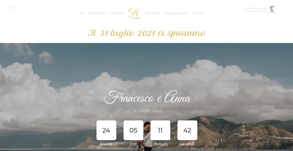 Home-page-del-sito-di-matrimonio-di-Francesco-e-Anna